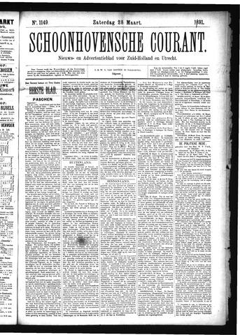 Schoonhovensche Courant 1891-03-28