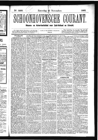 Schoonhovensche Courant 1903-11-21