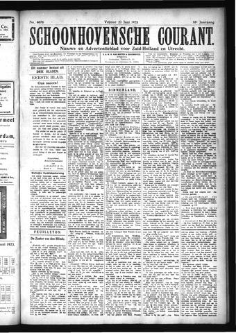 Schoonhovensche Courant 1923-06-22