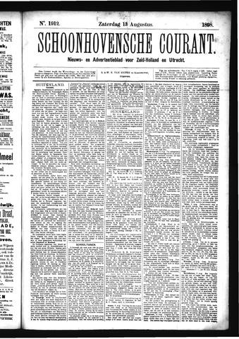 Schoonhovensche Courant 1898-08-13