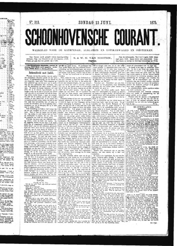 Schoonhovensche Courant 1875-06-13