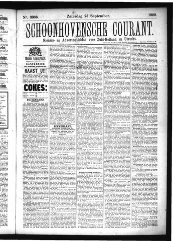 Schoonhovensche Courant 1909-09-25