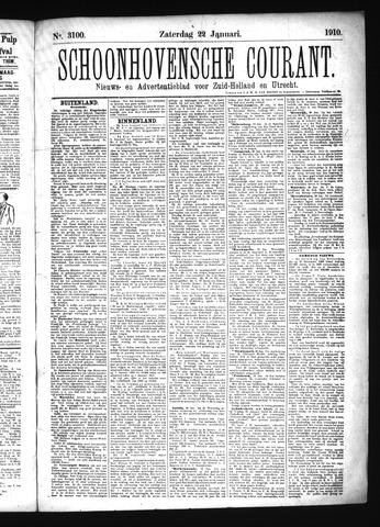 Schoonhovensche Courant 1910-01-22