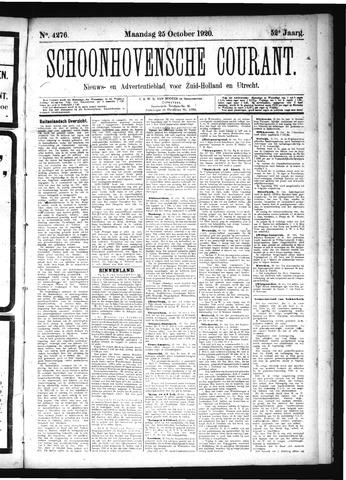 Schoonhovensche Courant 1920-10-25