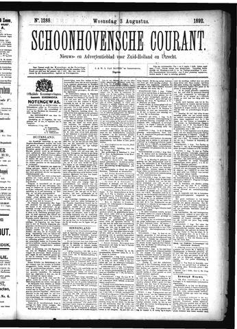 Schoonhovensche Courant 1892-08-03