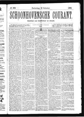 Schoonhovensche Courant 1886-10-16