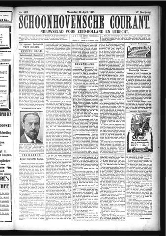 Schoonhovensche Courant 1925-04-20