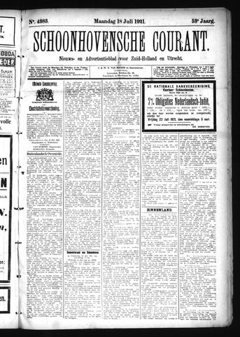 Schoonhovensche Courant 1921-07-18