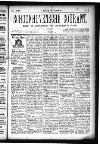 Schoonhovensche Courant 1915-10-29