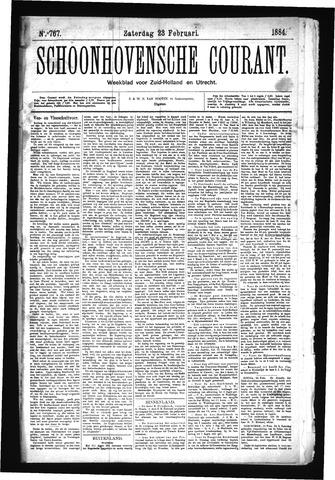 Schoonhovensche Courant 1884-02-23