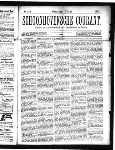 Schoonhovensche Courant 1891-06-10