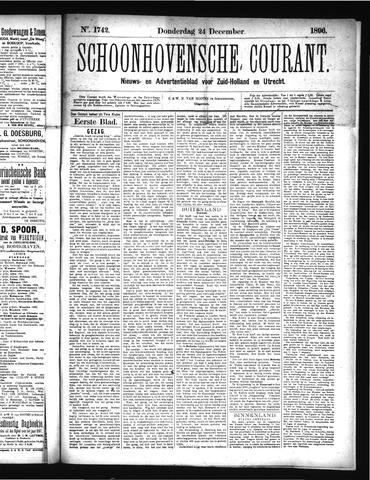 Schoonhovensche Courant 1896-12-24