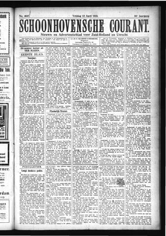 Schoonhovensche Courant 1923-04-13