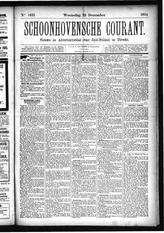 Schoonhovensche Courant 1914-12-16