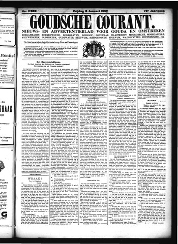 Goudsche Courant 1932-01-08