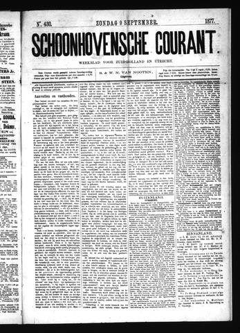 Schoonhovensche Courant 1877-09-09