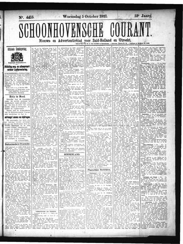 Schoonhovensche Courant 1921-10-05