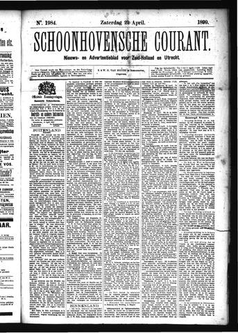 Schoonhovensche Courant 1899-04-22