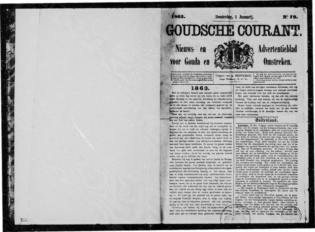 Goudsche Courant 1863