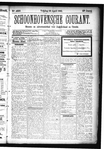 Schoonhovensche Courant 1921-04-22