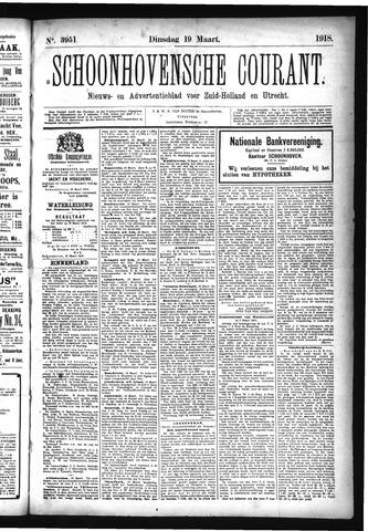 Schoonhovensche Courant 1918-03-19