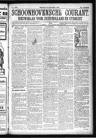 Schoonhovensche Courant 1926-11-22
