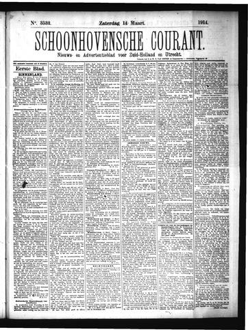 Schoonhovensche Courant 1914-03-14