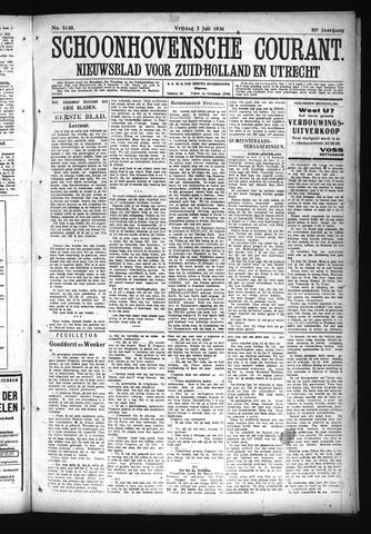 Schoonhovensche Courant 1926-07-02