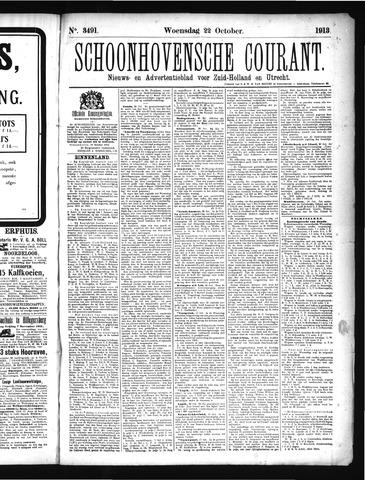 Schoonhovensche Courant 1913-10-22
