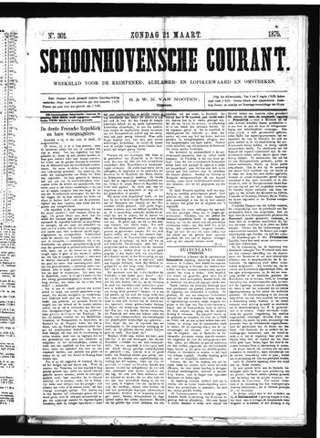 Schoonhovensche Courant 1875-03-21