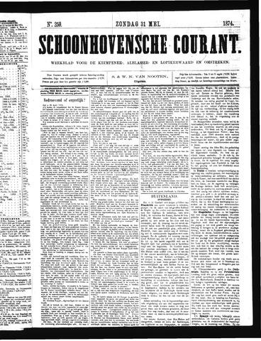 Schoonhovensche Courant 1874-05-31