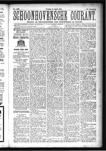 Schoonhovensche Courant 1922-04-21