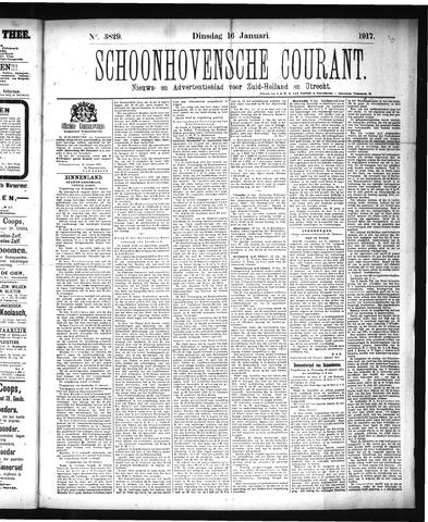 Schoonhovensche Courant 1917-01-16