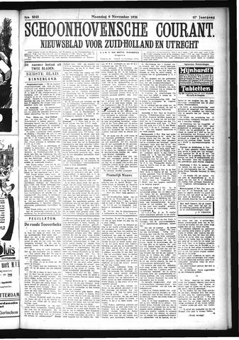 Schoonhovensche Courant 1925-11-09