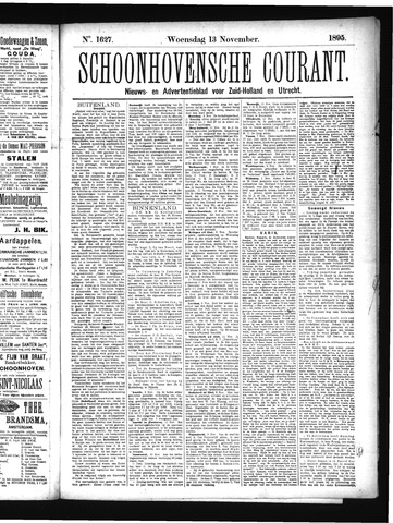 Schoonhovensche Courant 1895-11-13