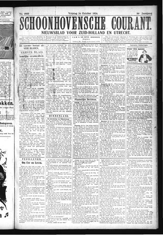 Schoonhovensche Courant 1924-10-24