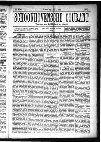 Schoonhovensche Courant 1881-07-10