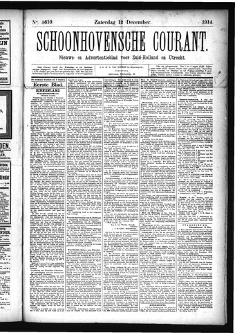 Schoonhovensche Courant 1914-12-12
