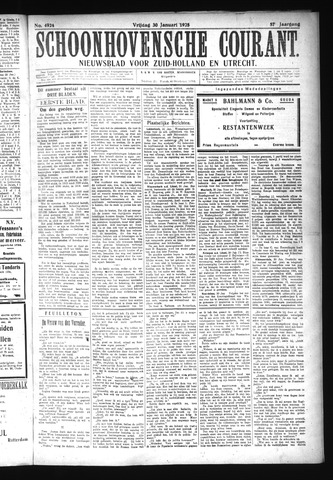 Schoonhovensche Courant 1925-01-30