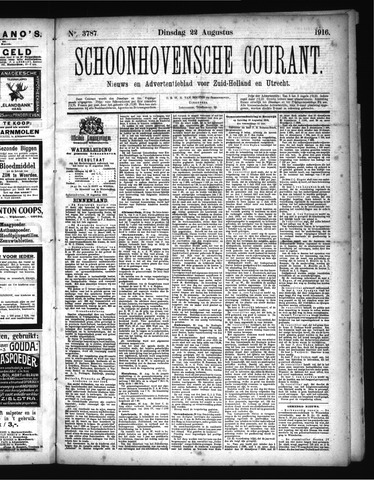 Schoonhovensche Courant 1916-08-22