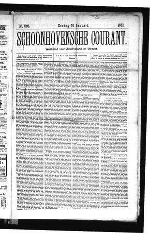 Schoonhovensche Courant 1881-01-16