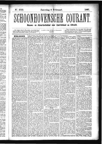Schoonhovensche Courant 1897-02-06