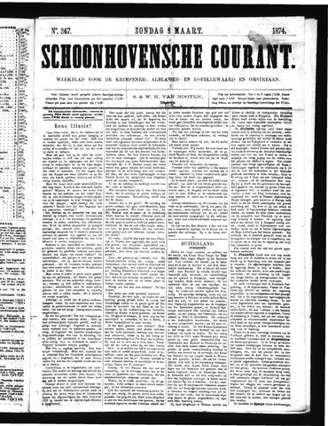 Schoonhovensche Courant 1874-03-08
