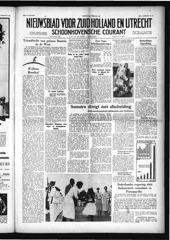 Schoonhovensche Courant 1958-02-05