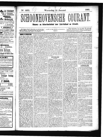 Schoonhovensche Courant 1903-01-14
