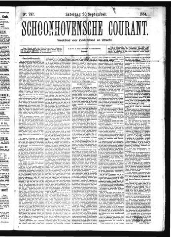 Schoonhovensche Courant 1884-09-20