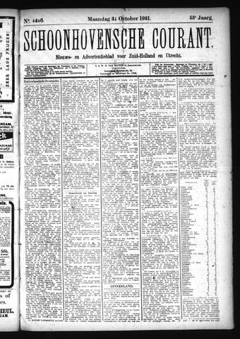 Schoonhovensche Courant 1921-10-31