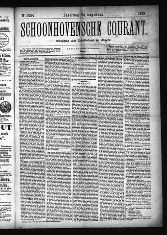Schoonhovensche Courant 1889-08-24