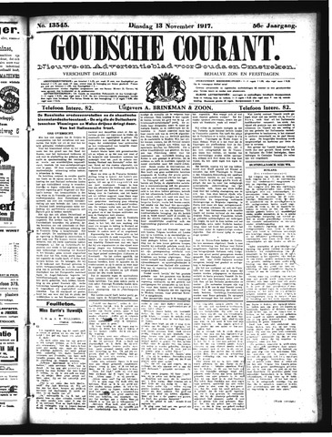 Goudsche Courant 1917-11-13