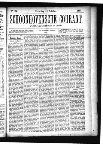 Schoonhovensche Courant 1890-10-18